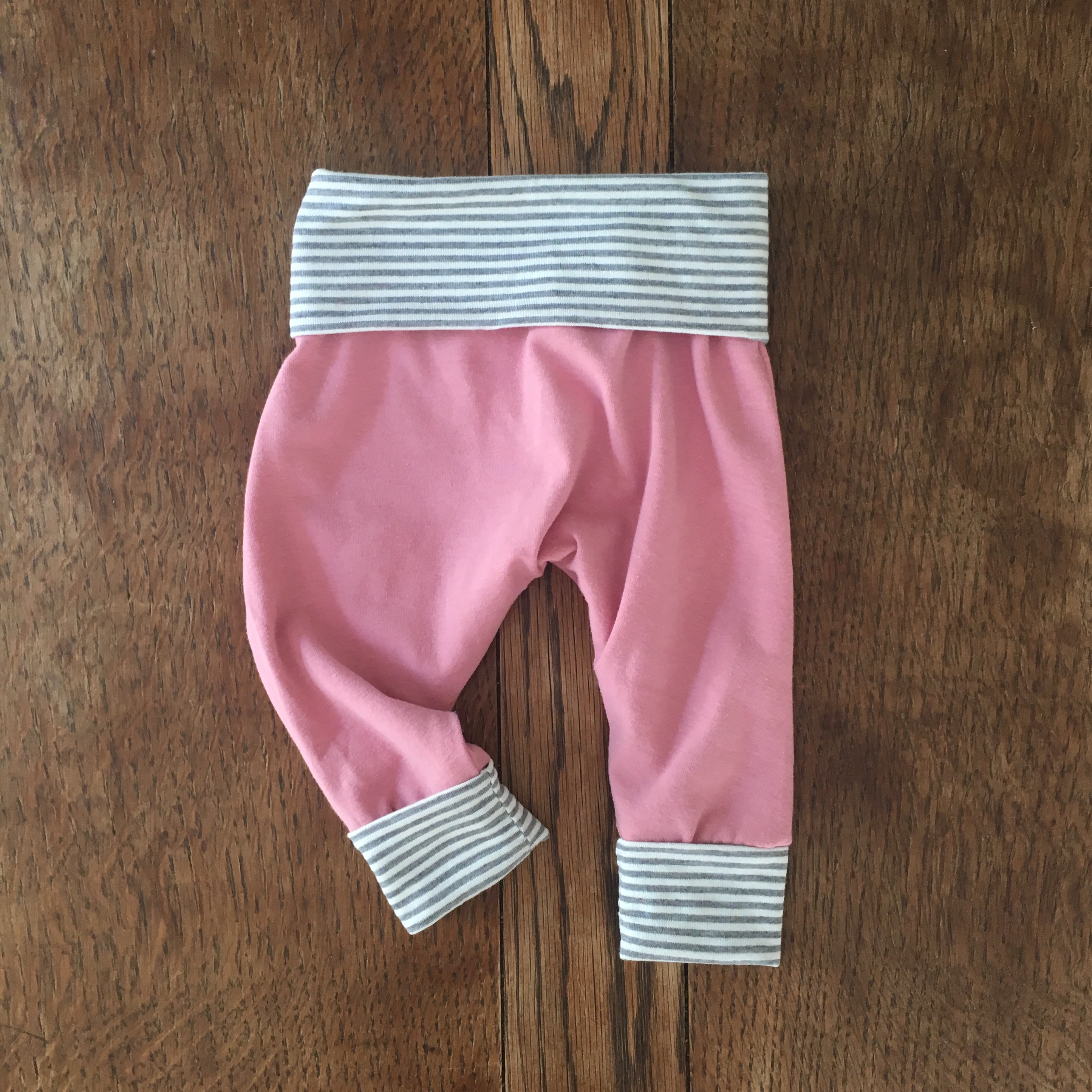 Dusty Rose and Grey Microstripe