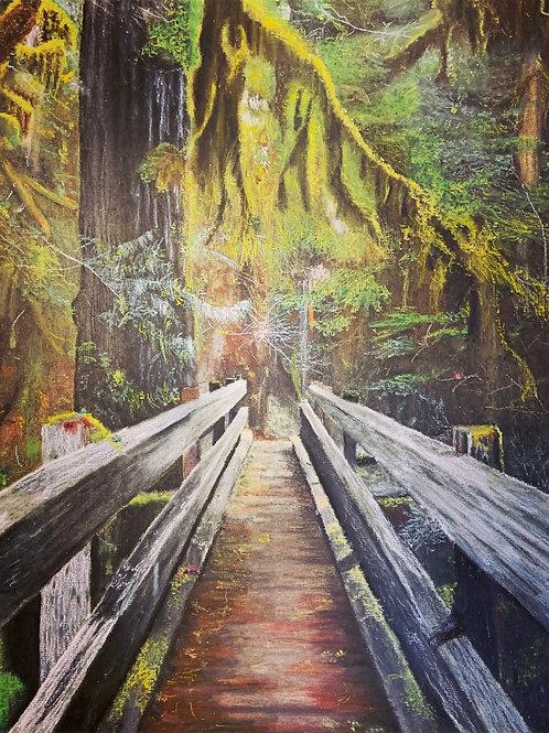 """The Path"" Oil Pastel Print"