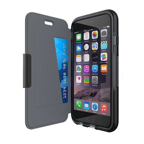 Funda Tech 21 Evo Wallet For iPhone 6/6s Color: BLACK
