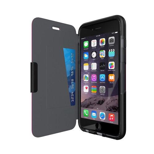 Funda Tech 21 Evo Wallet For iPhone 6 Plus/6sPlus Color: BLACK
