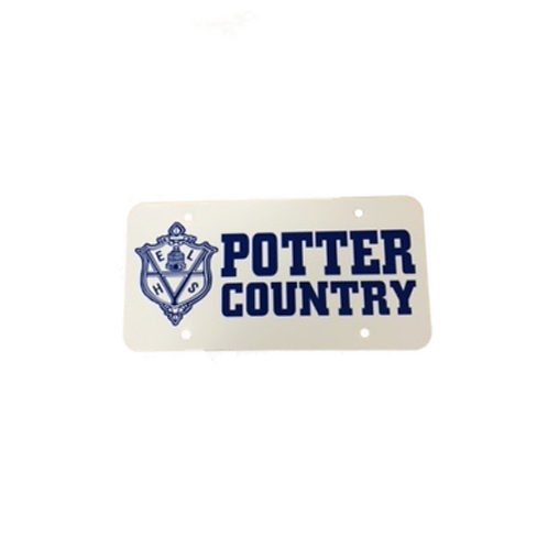 Potter Country License Plate