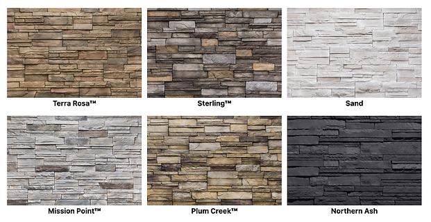 Versetta Stone Tight Cut siding color options - image by Versetta Stone