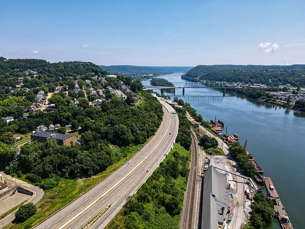 The Jennings Randolph Bridge in East Liverpool Ohio - image by Rich Feezle (RF3 Photography)