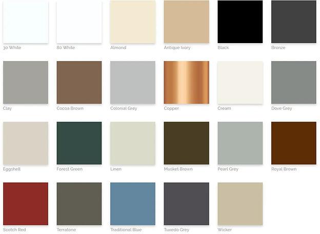 Quality Aluminum Gutters color options - image by Quality Aluminum Gutters