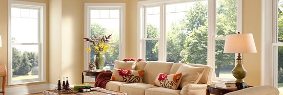 Simontron Windows over a yellow, white and red accented room - image by Simontron