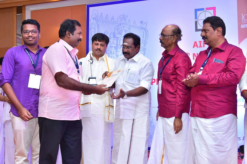 Receiving National Award for Excellence in Printing from Sellur Raju
