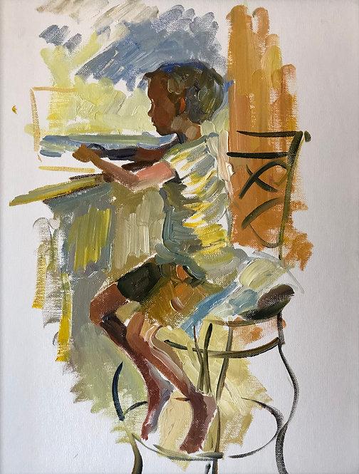 Sketch of a little boy