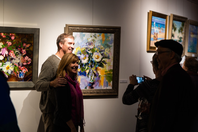 """""""God is Love"""" opening reception night visitors"""