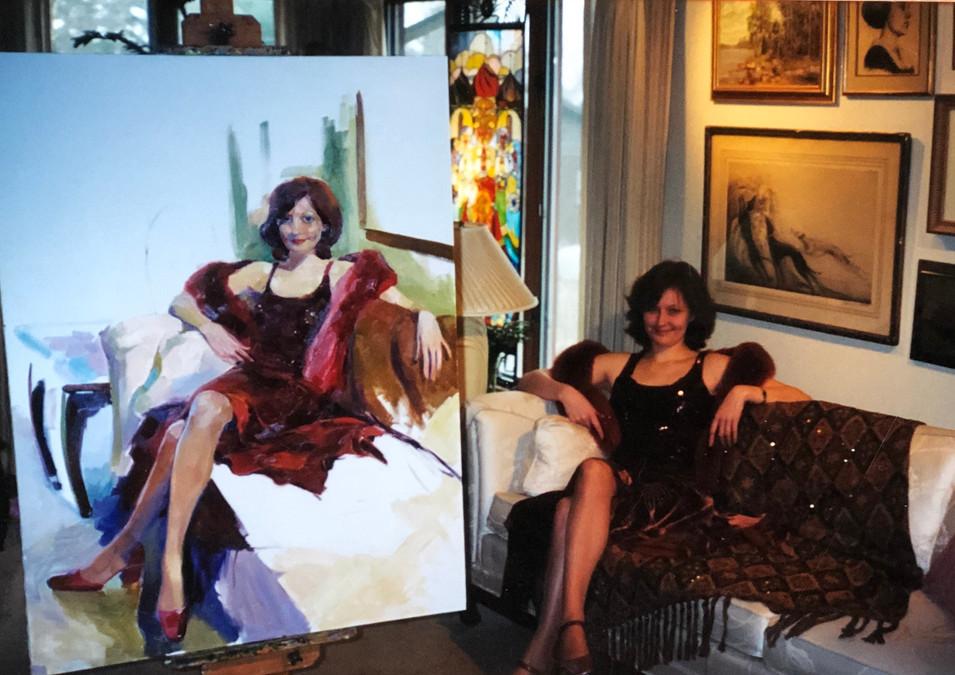 """Painting life size portrait """"Femme Fatale"""".jpg"""
