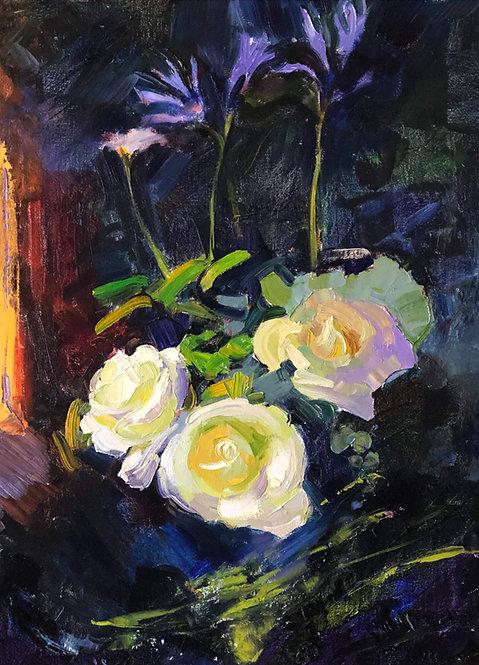 White Roses Abstaract