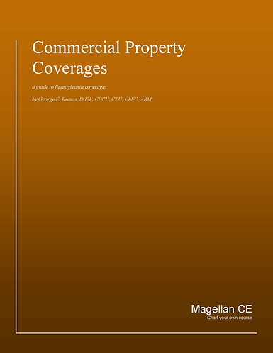 Commercial Property Coverages (8 credits) CE Course - Online Only