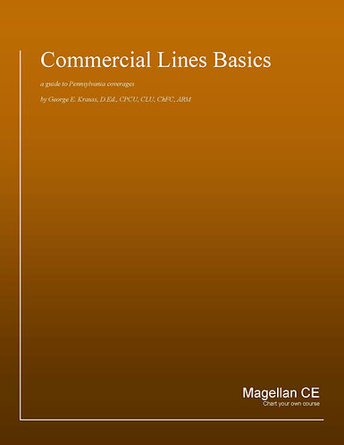 Pennsylvania Commercial Lines Basics (20 credits) - Online Version