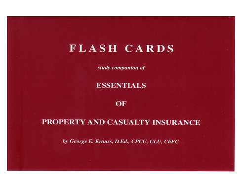 Pennsylvania P&C - Flash Cards (included in comprehensive course)