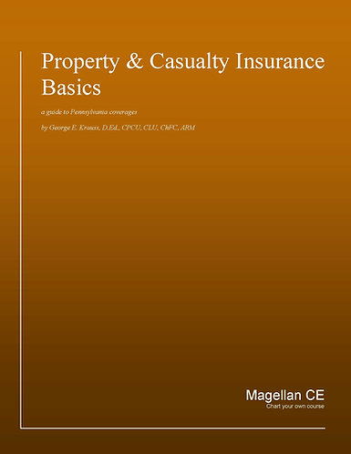 Property Casualty Insurance Basics (14 credits) CE Course - Online Only