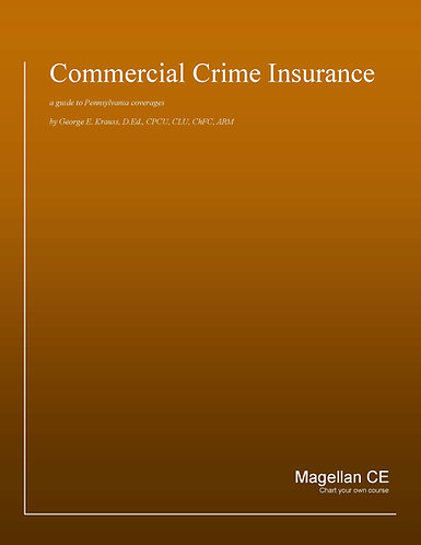 Commercial Crime Insurance (8 credits) CE Course - Online Only