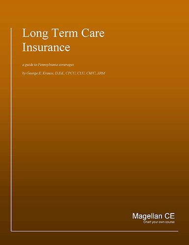Pennsylvania Long Term Care Certification (8 Credits) CE Course - Online Only