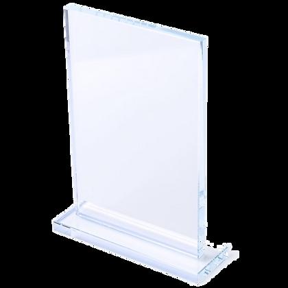 Trofeu placa de cristal