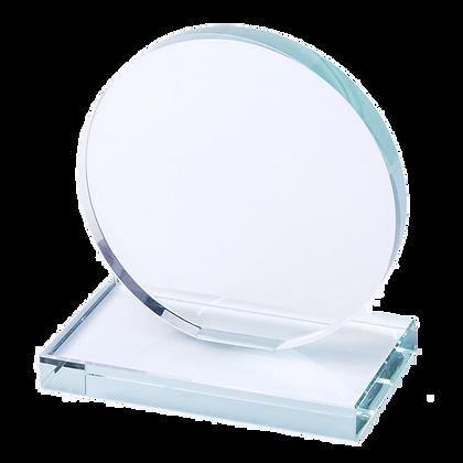 Troféu placa cristal