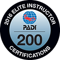 PADI Elite Instructor Award 2015