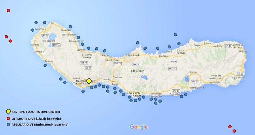 Best Spots Scuba Diving Azores Dive Ponta Delgada Tauchen Plongée Buceo Mergulho