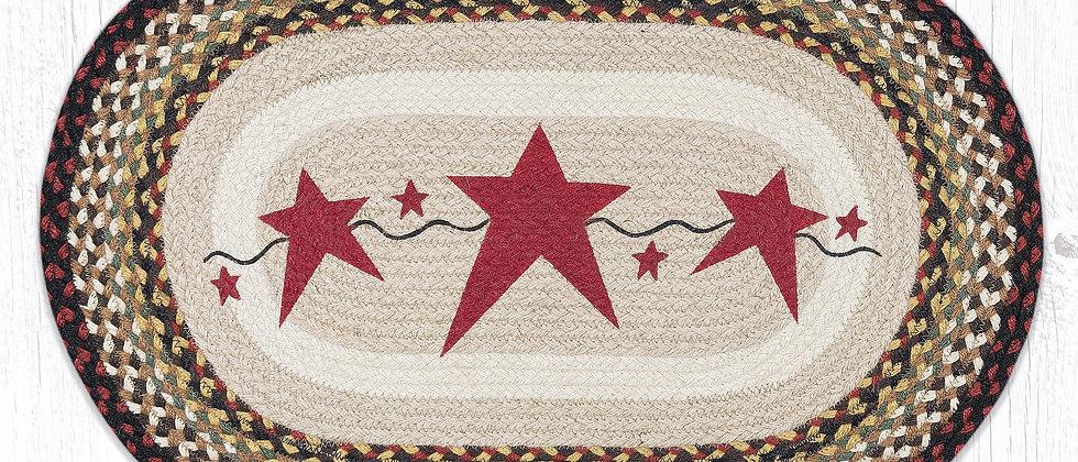 Stars Oval Rug
