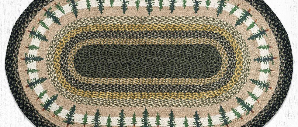 Timbers Oval Rug