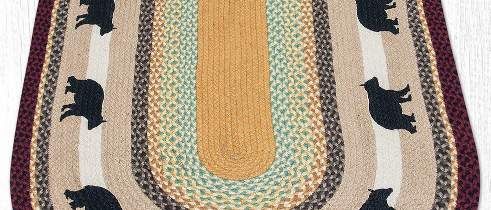 Bear Oval Rug - Multicolor