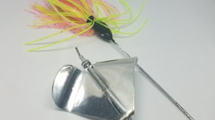 Pink and Chartreuse Buzz Bait