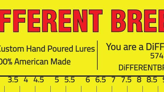 Different Breed Lures Bumper Sticker