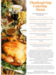Thanksgiving Catering Menu Brookline MA