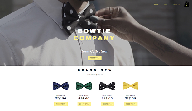 Online Store website templates – Bow Tie Store