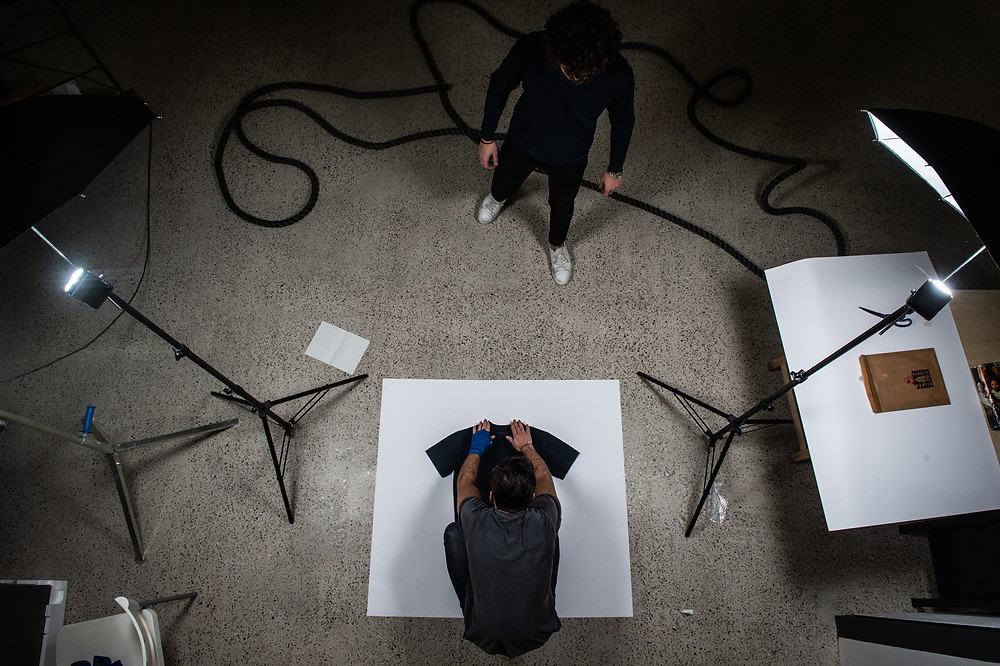 Picture behind the scenes of a productshoot of The Activewear Company