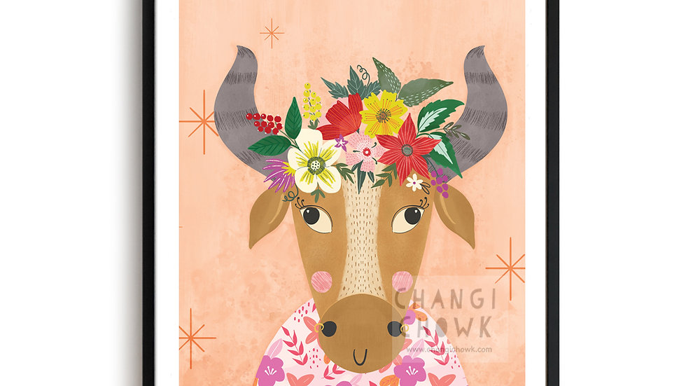 Art Print - Year of Ox 2021 A5