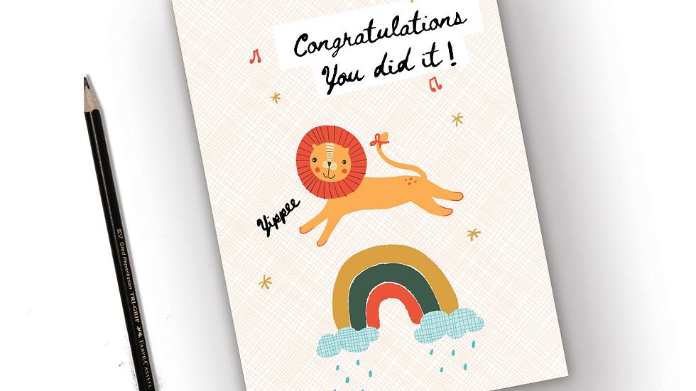 Congrats you did it