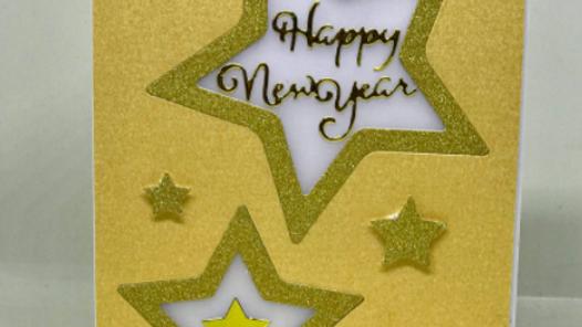 New Year Stars Card