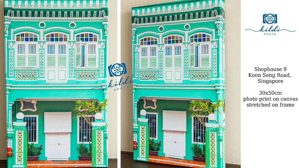 Singapore Peranakan Shophouse Fine Art Photography Print on Canvas