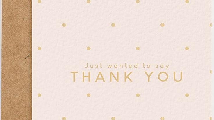 Pink Polka Dot Thank-You