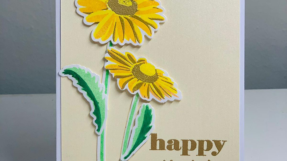 Yellow Mother's Day Card