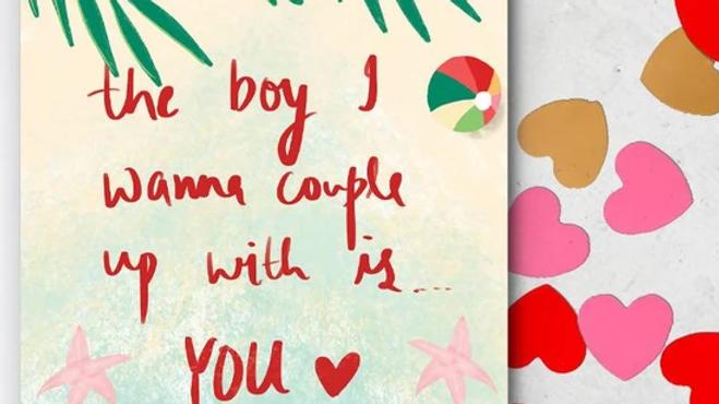 Love Island Valentine's Card