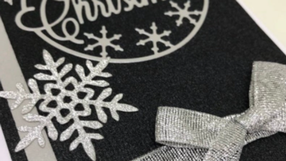 Elegant snowflake card