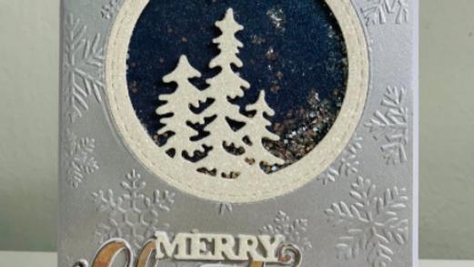 Handmade Merry Christmas Glitter Card