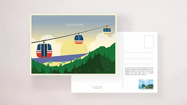 Cable Car Sentosa Postcard