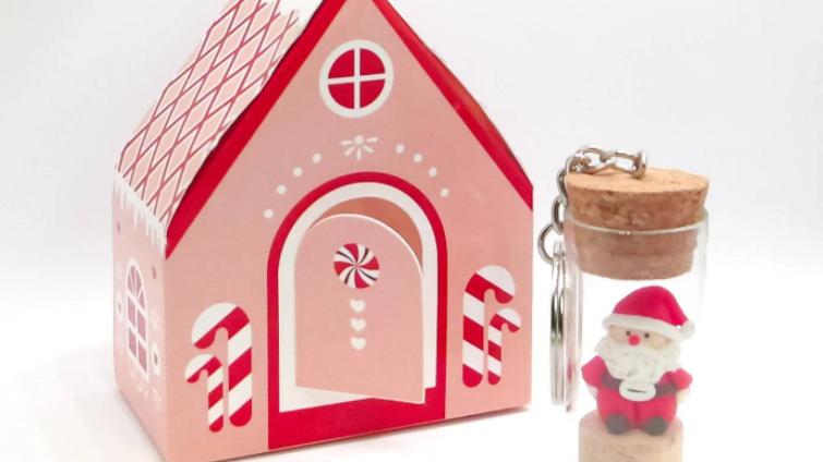 Santa Keychain Gift Set