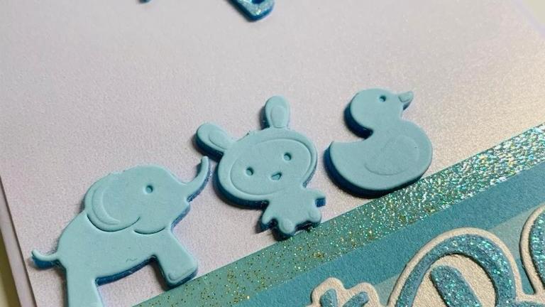 Glitter Baby Boy Card