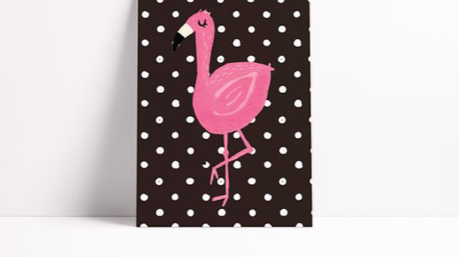 Fancy Flamingo Notebook