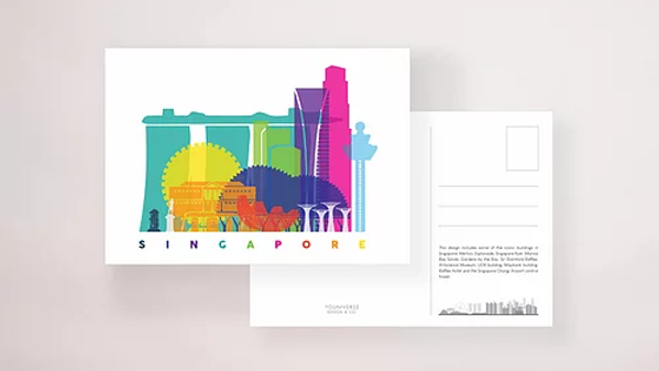 SG Skyline Postcard