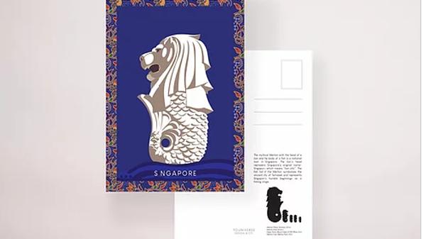 Kebaya Merlion Postcard