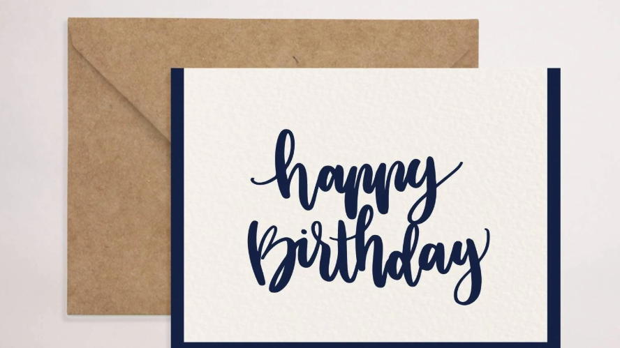 Birthday Blue Card