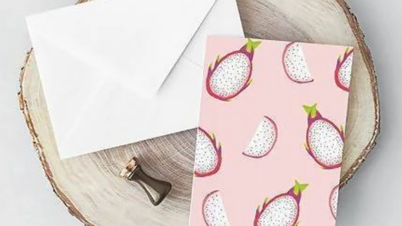 Dragonfruit Pattern Card