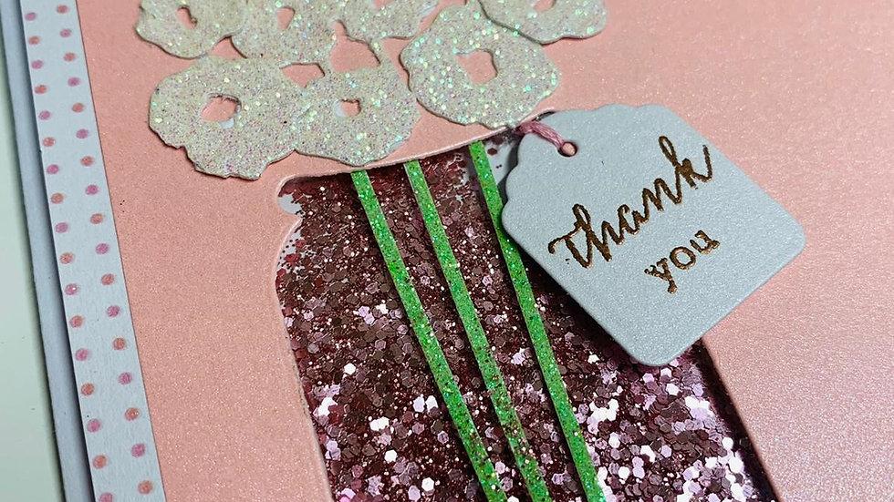 Thank You Glitter Card
